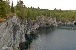 Мраморный карьер близ Рускеала