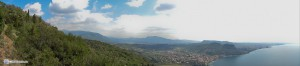Панорама с горы близ Гарды