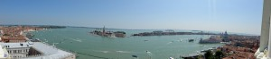 Панорама. Вид на залив с колокольни Сан Марко