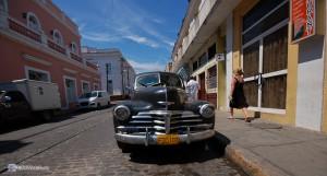 Ретро автомобиль в Сьентфуэгосе.