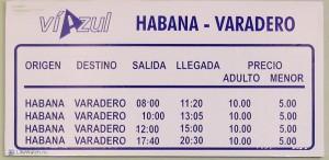 Расписание автобусов Viazul Варадеро-Гавана