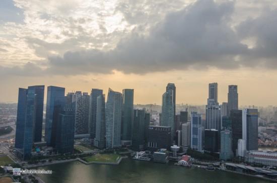 Вид на небоскребы Финансовго центра